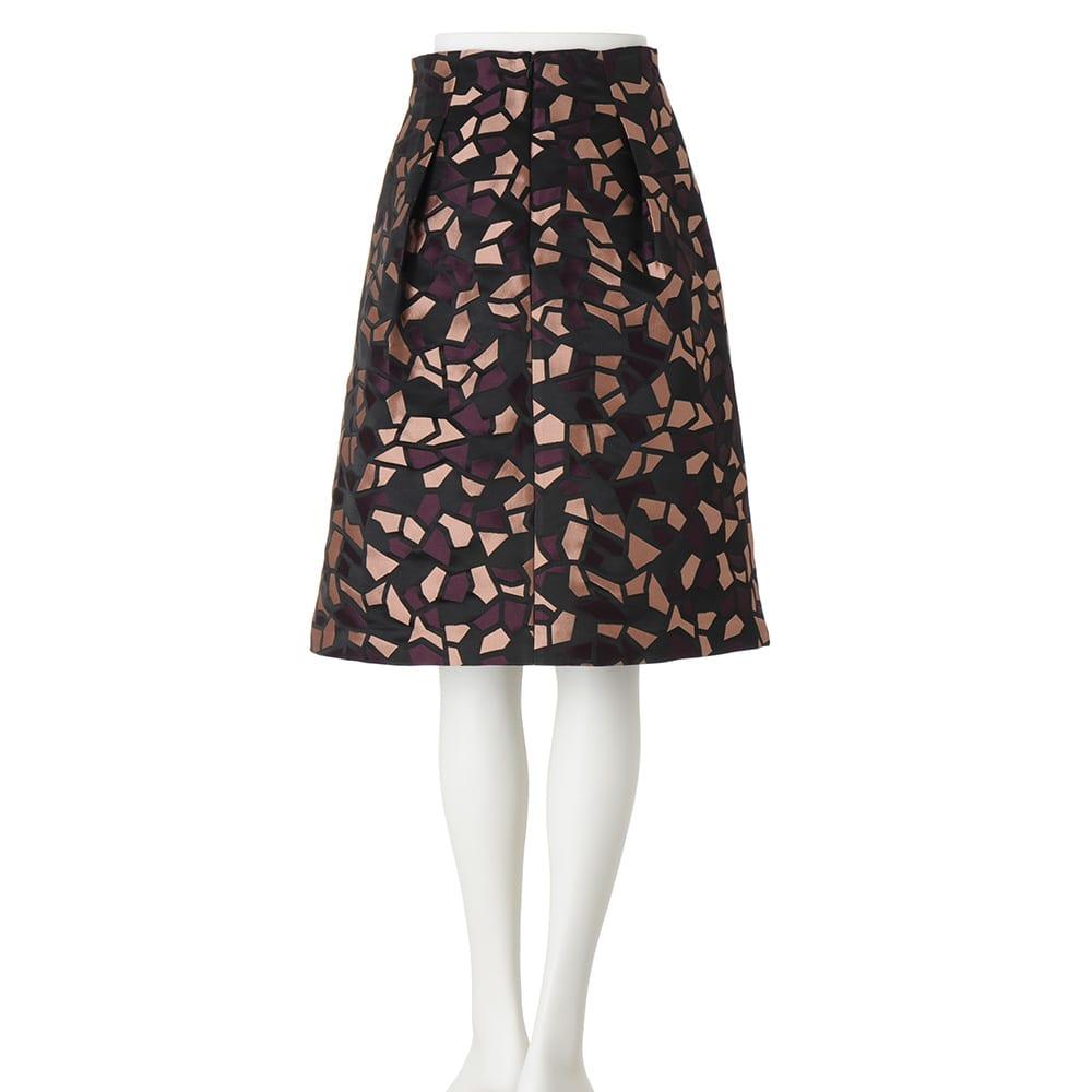 イタリア製生地 ジャカードスカート(チュールスカート付き)