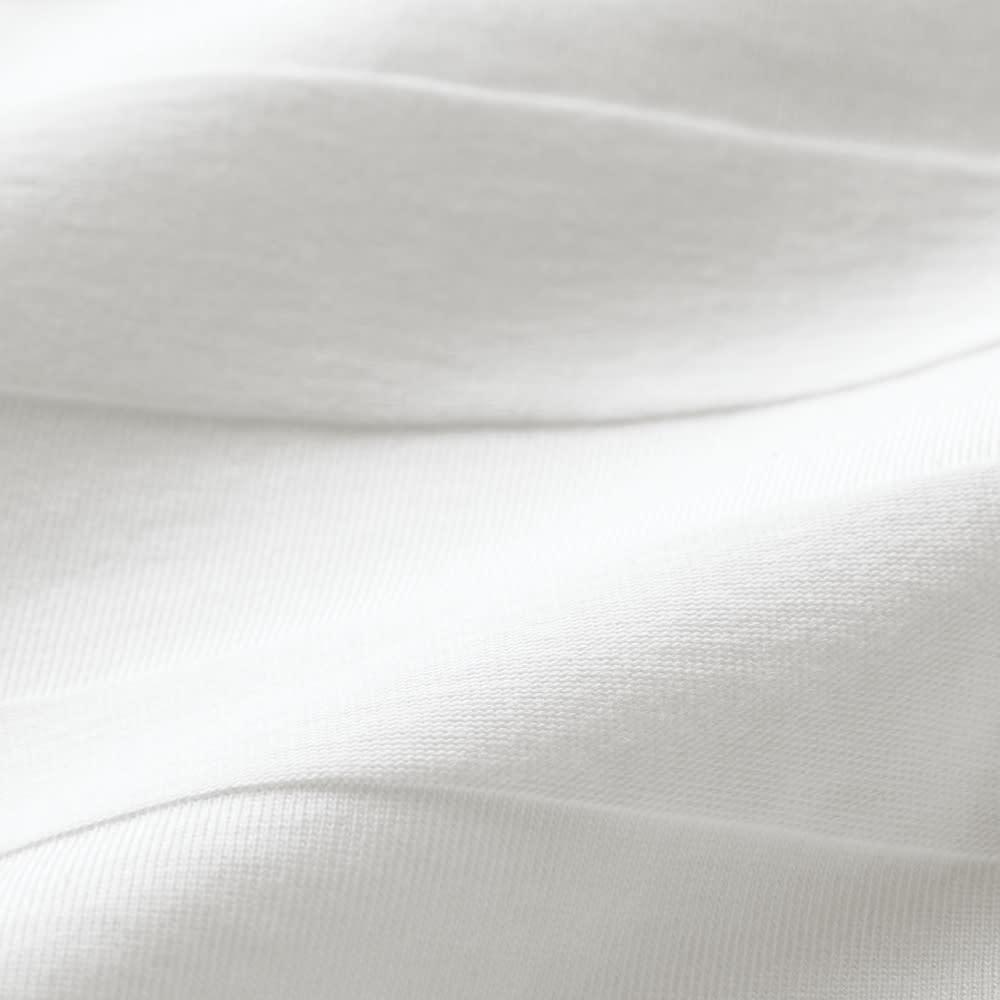リンクス編みTシャツ (エ)ホワイトボーダー