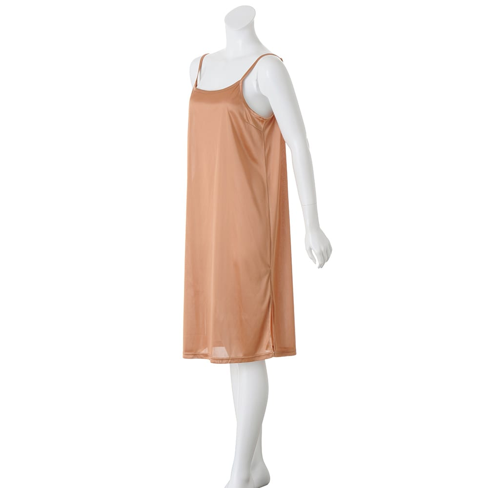 配色柄編み ニットワンピース インナードレス付き