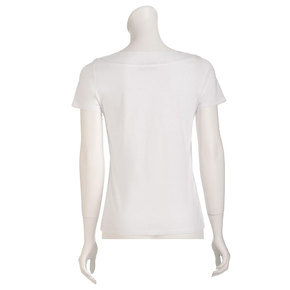 新美デコルテ(R) 合わせV開き半袖Tシャツ
