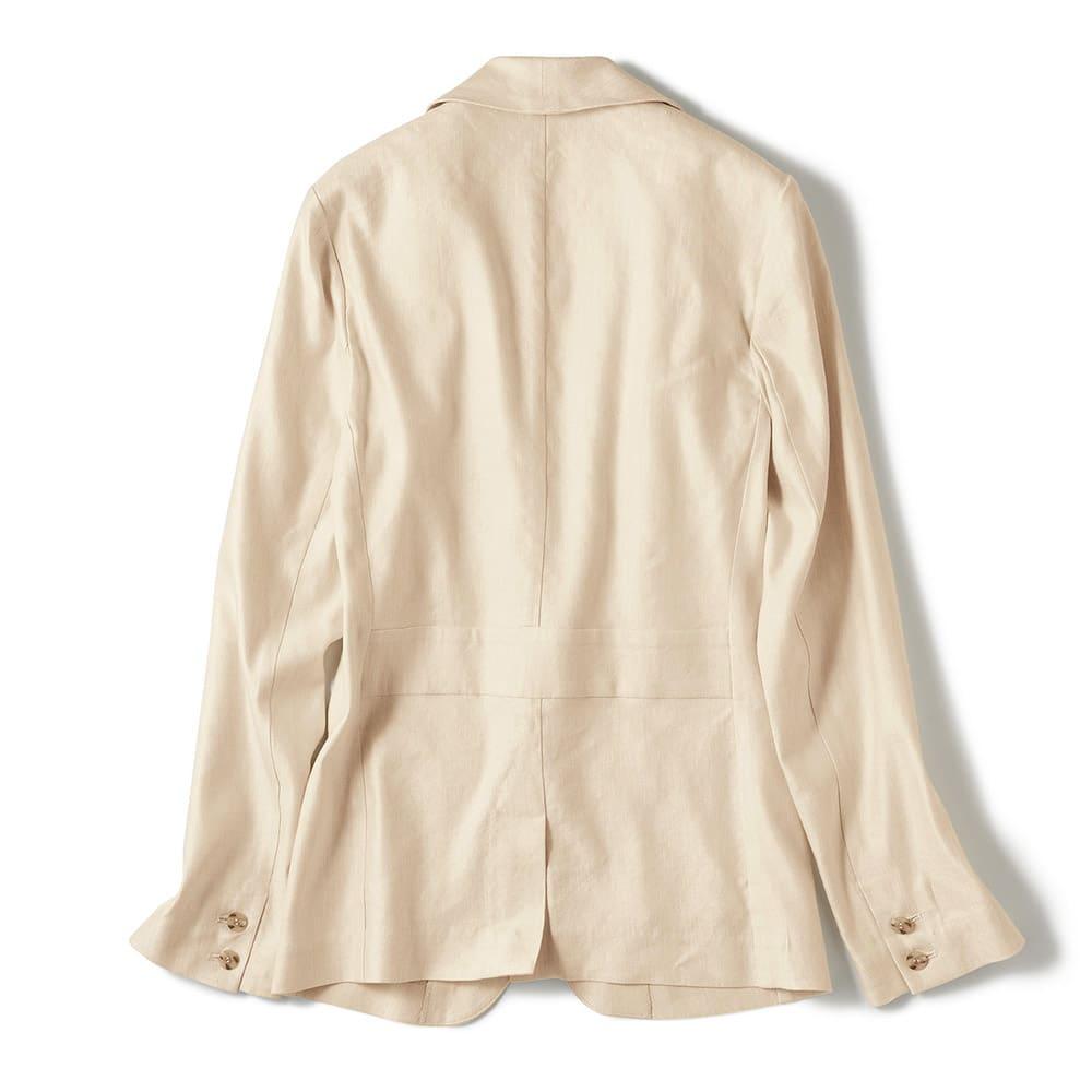 リネンシルク混 ショールカラー ジャケット Back Style