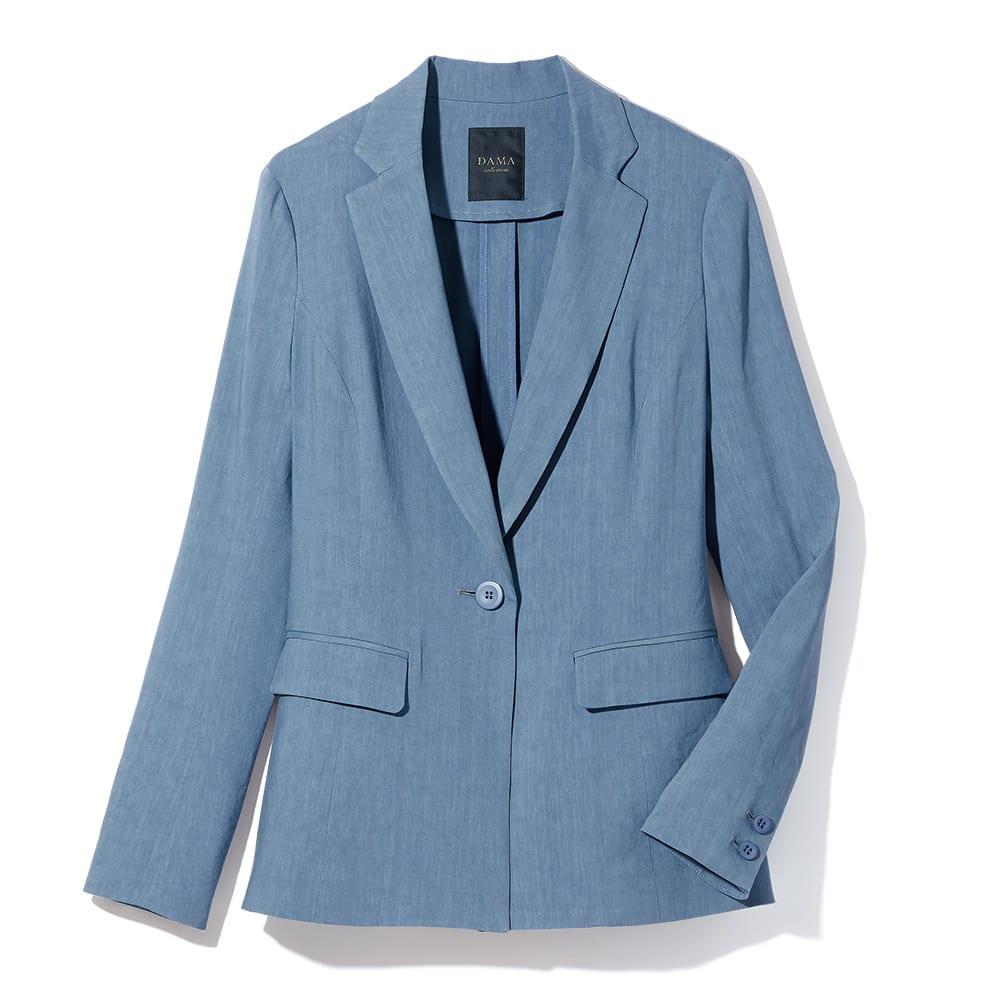 イタリア素材 リネン混 テーラード ジャケット