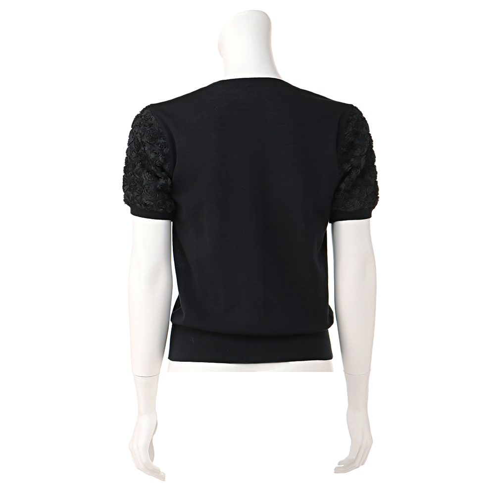 ローズモチーフレース使い 半袖プルオーバー ※今回こちらのお色の販売はございません。参考画像です。