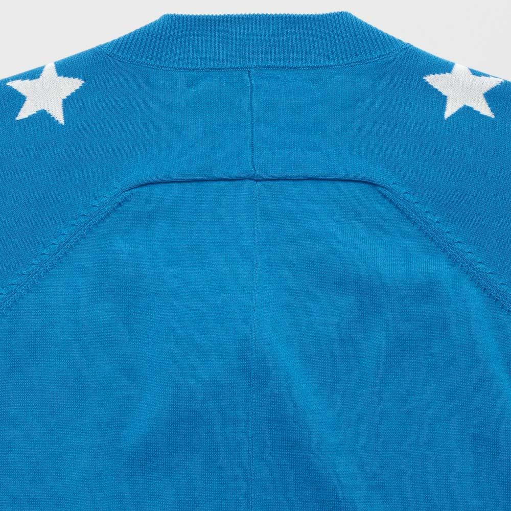 星柄インターシャ ニットプルオーバー Back Style