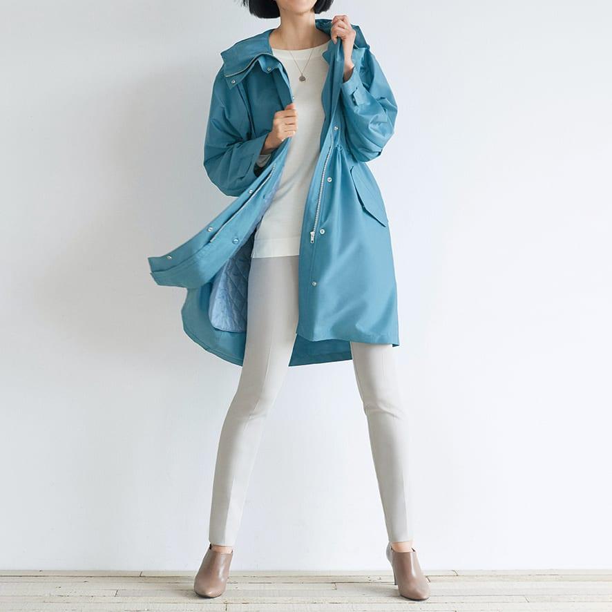 キルティングライナー付き 撥水 モッズ風コート ※今回こちらのお色の販売はございません。参考画像です。