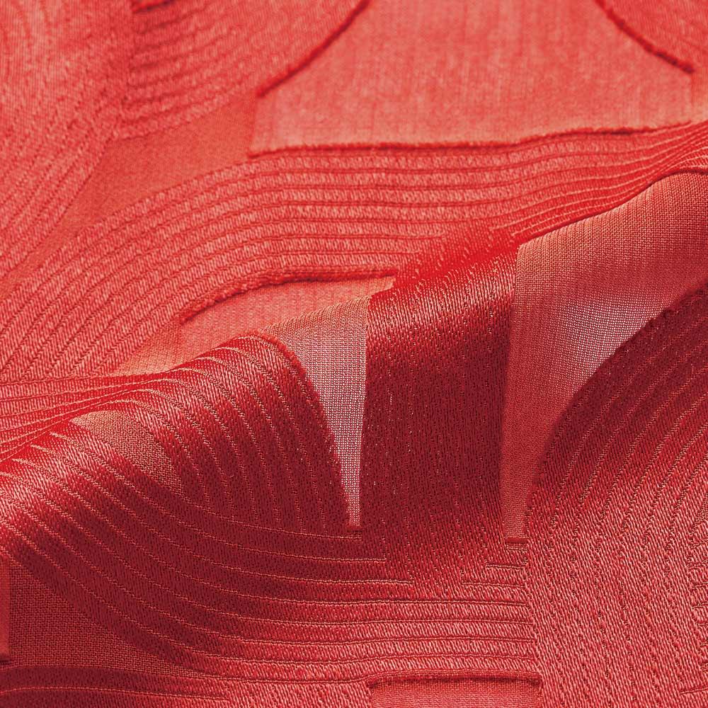 イタリア素材 チェーン柄 カットジャカード タックデザイン ワンピース 生地アップ