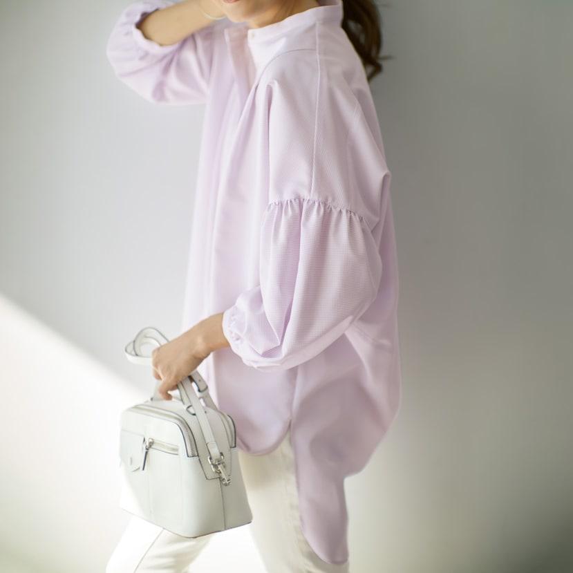機能素材 シグマティ(R) バックコクーンシャツ コーディネート例