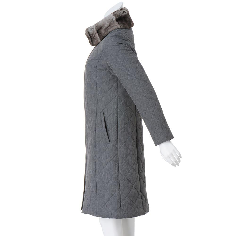 オリラグファーティペット付き リモンタ社 中わた キルティングコート