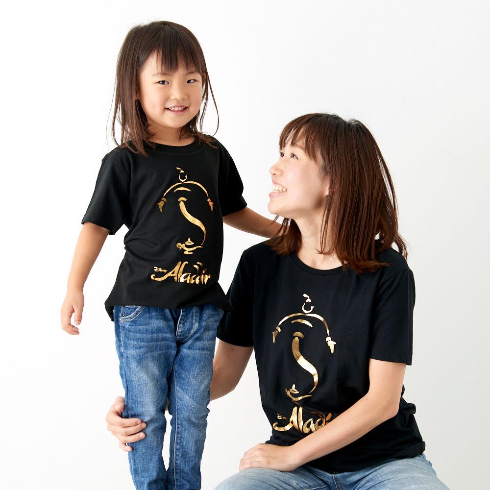 アラジン/半袖Tシャツ(キッズ)ゴールド|ディズニー ミュージカル 着用イメージ…身長105cm・120着用。家族おそろいで楽しめます。(大人用/商品番号:NV13-64)