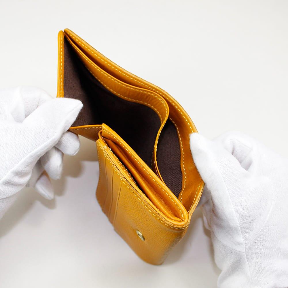 cotone/コットーネ 二つ折り財布 (ア)イエロー