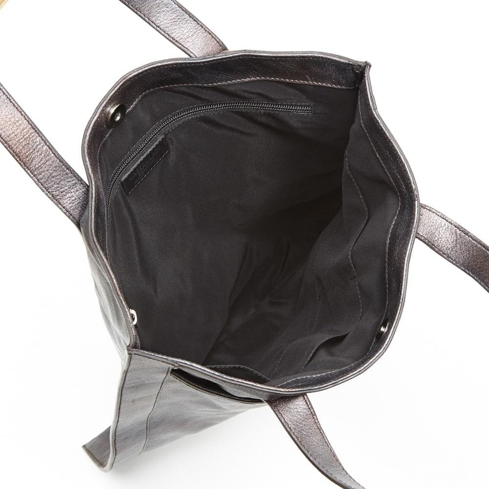CASTELLARI/カステラーリ メタリック フラットトートバッグ inside