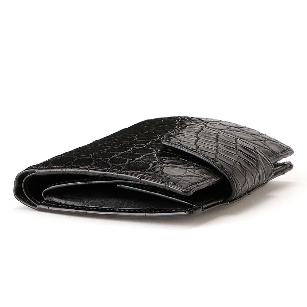 クロコダイル 二つ折り財布 SIDE