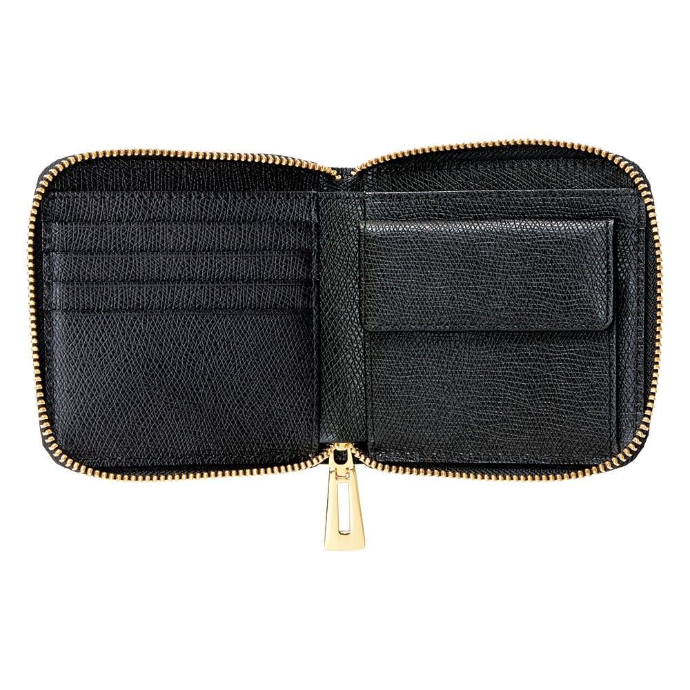 クロコダイル コンパクト 三方ファスナー財布 INSIDE