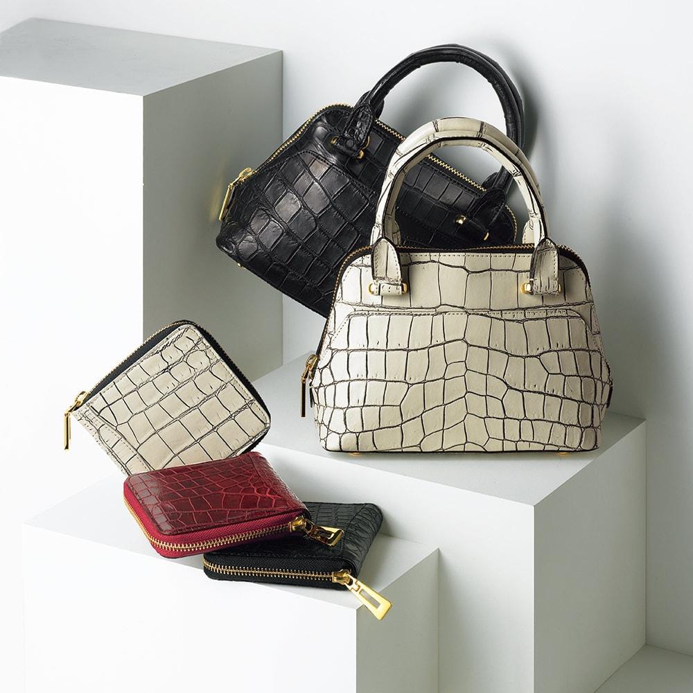 クロコダイル コンパクト 三方ファスナー財布 クロコダイルシリーズ