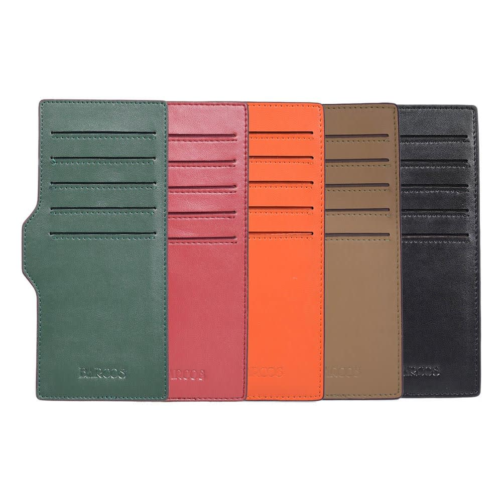BARCOS/バルコス レザー ラウンドファスナー 長財布 カードケース付きは本体と同色