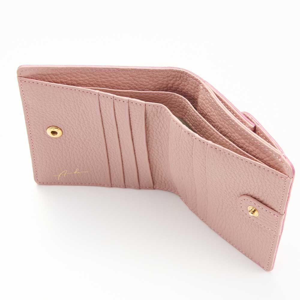 Arukan/アルカン カモフラージュ 折財布 (ア)ピンク系 inside