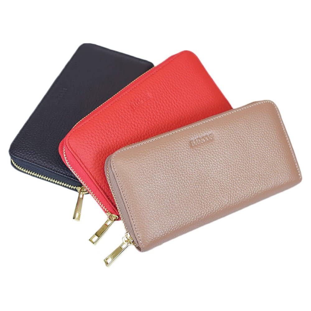 BARCOS/バルコス レザーバッグ&長財布セット [長財布] 左から (ア)ブラック、(ウ)レッド、(イ)トープ