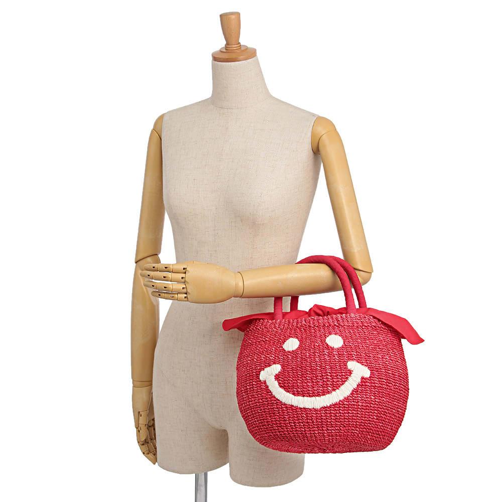 a-jolie/アジョリー スマイル刺繍 かごバッグ 着用例