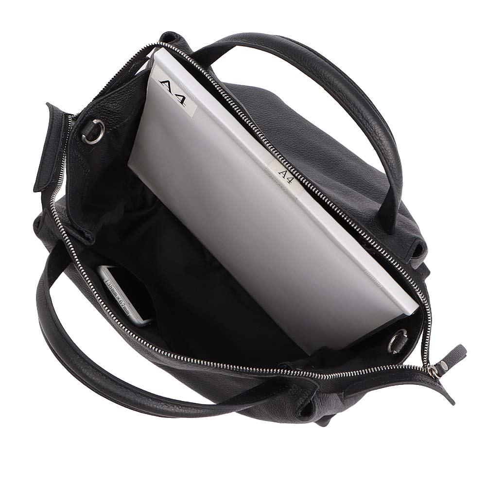 Moronero/モロネロ 2WAYレザーバッグ(イタリア製) A4横サイズ収納可/138mm×67mmスマートフォン内ポケット収納可