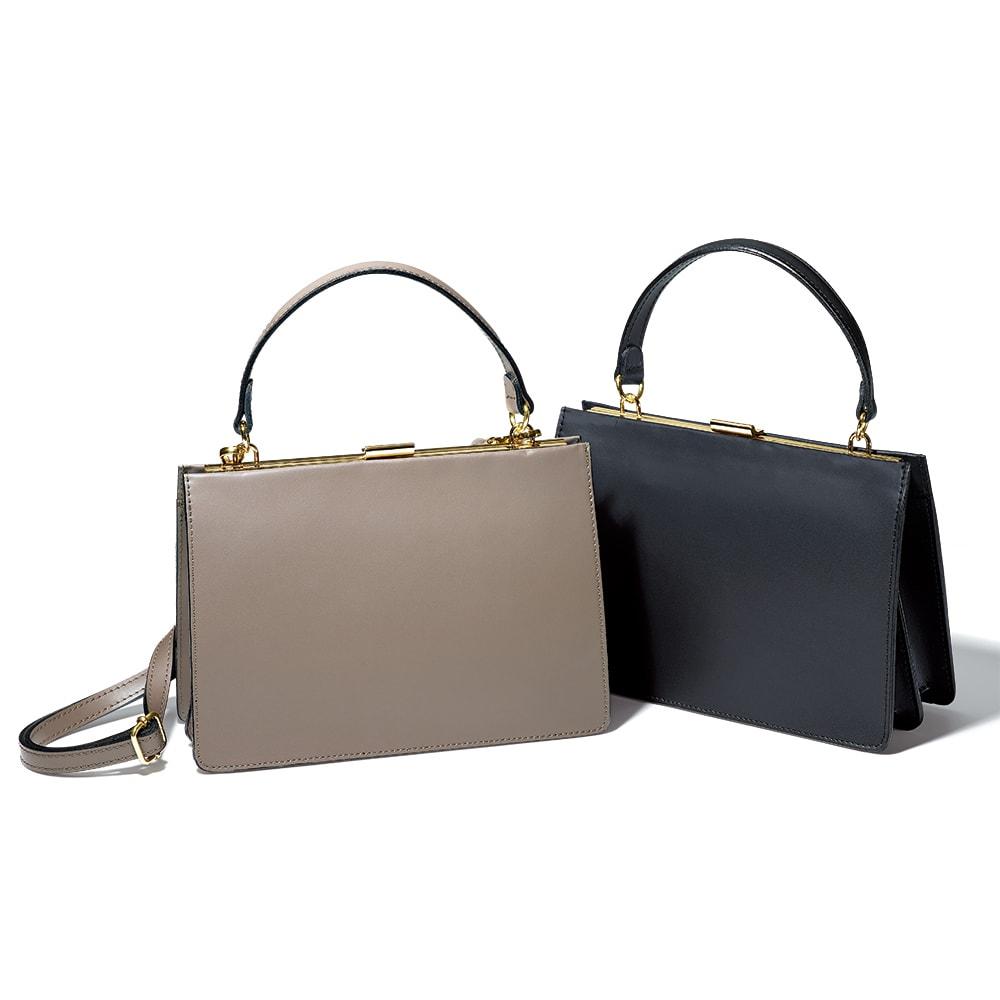 LAURA DI MAGGIO(R)/ラウラ ディ マッジオ ワンハンドル バッグ(イタリア製) 左から (イ)トープ (ア)ブラック