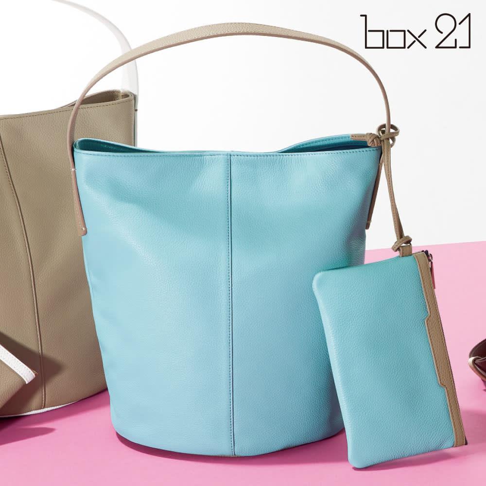BOX21/ボックス21 配色ワンハンドルトートバッグ (ア)スカイブルー系