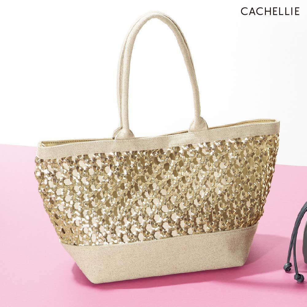 Cachellie/カシェリエ メッシュコンビトートバッグ