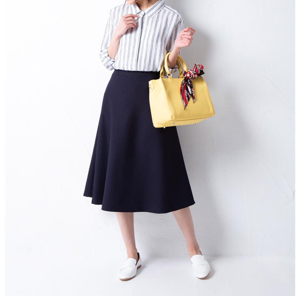 COOCO/クーコ スカーフ付き 2WAY バッグ コーディネート例