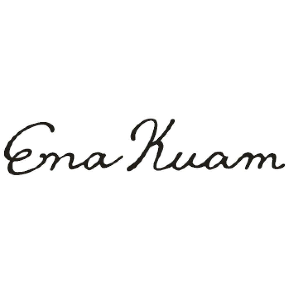 Ena Kuam/エナクアム バンブーハンドル ケーブルニット トートバッグ