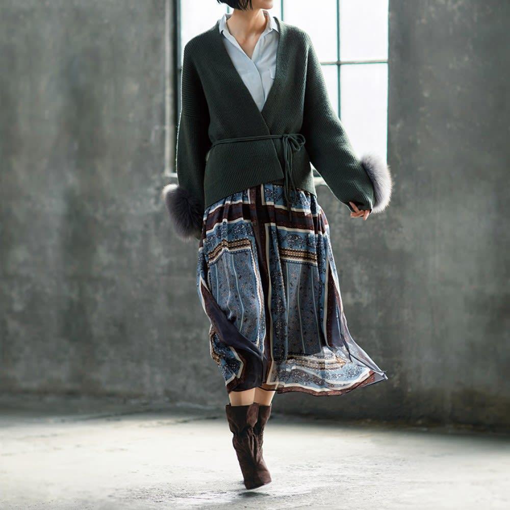 Carmen Salas/カルメンサラス スエード ショートブーツ(スペイン製) コーディネート例