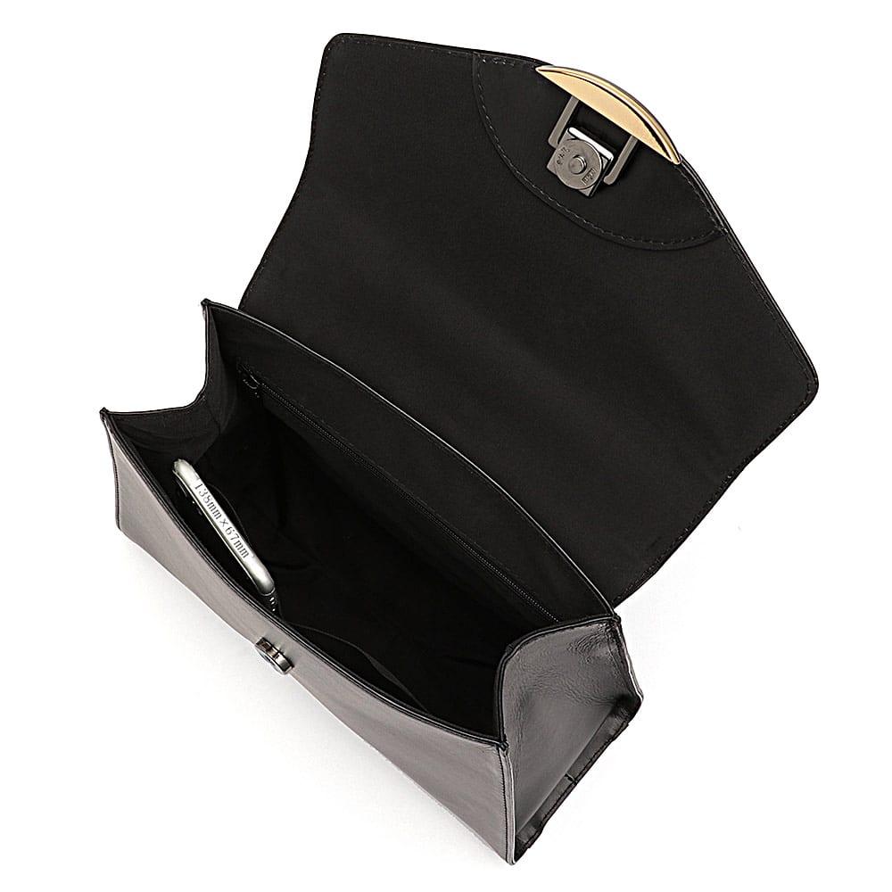金具デザイン 3FACE ワンハンドルバッグ 138mm×67mmスマートフォン 内ポケット収納可