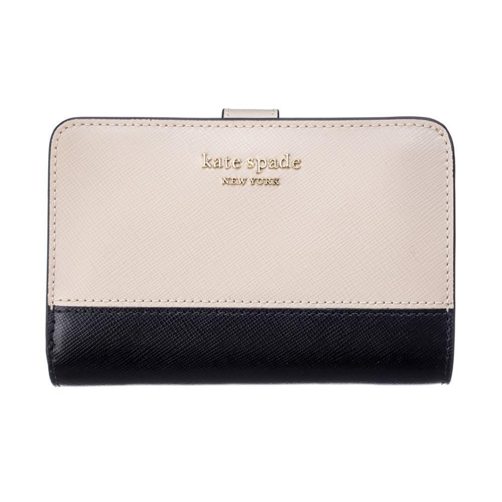 kate spade/ケイト・スペード 折財布 PWR00279 (イ)ベージュ/ブラック