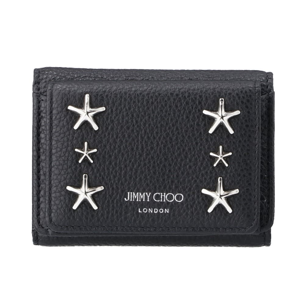 JIMMY CHOO/ジミー・チュウ 折財布 NEMOUU (ア)ブラック