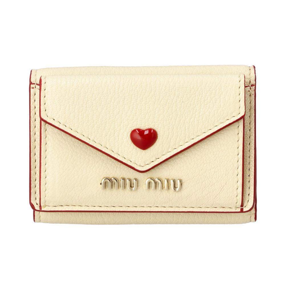 MIU MIU/ミュウミュウ 折財布 5MH0212BC (ア)イエロー