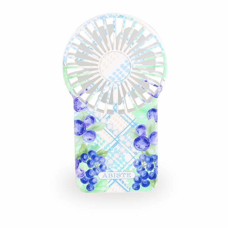 ABISTE/アビステ フルーツ柄 ポータブルミニファン (ア)ブルー