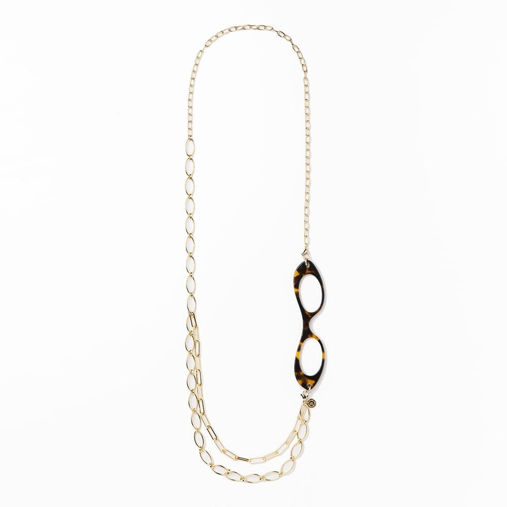 LOUPE COLLIER/ルーペコリエ メタルチェーン ネックレス(ゴールド) シニア&シルバー用品