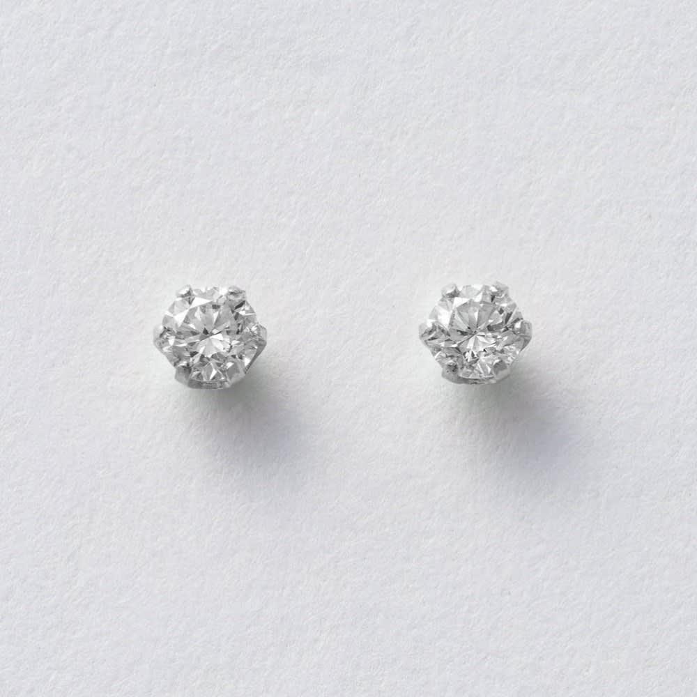 ARCOIRIS/アルコアイリス K10 ダイヤ 1粒 ピアス (イ)WG