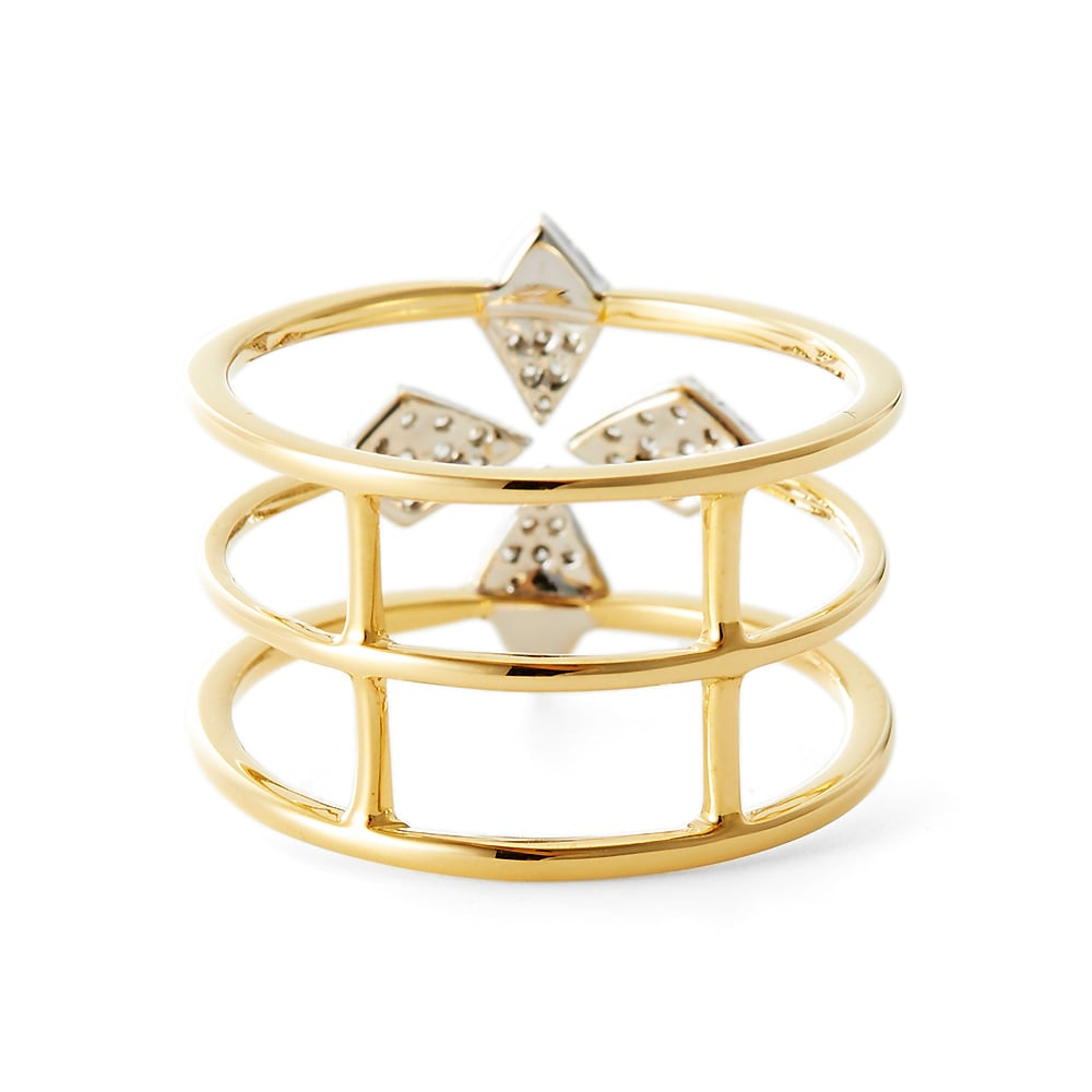 K18 ダイヤ デザインリング