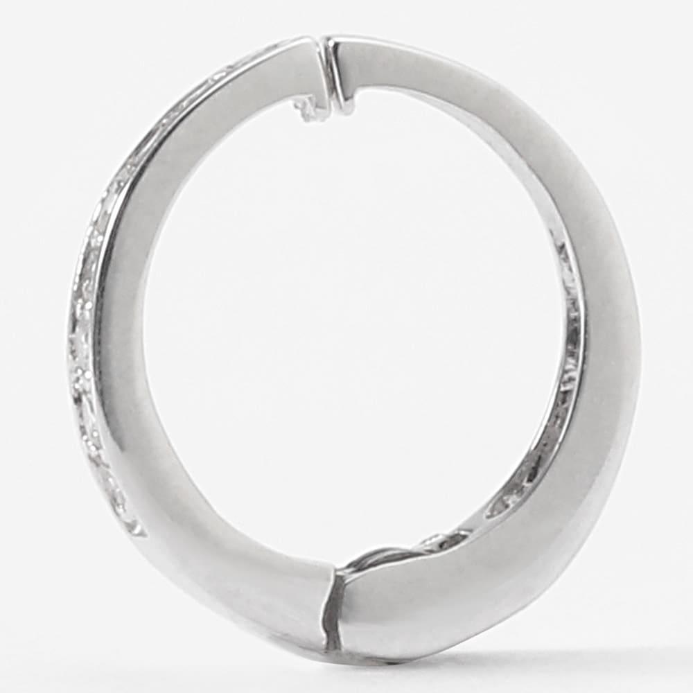 K10 0.1ctダイヤ ピアリング はさみ込み式