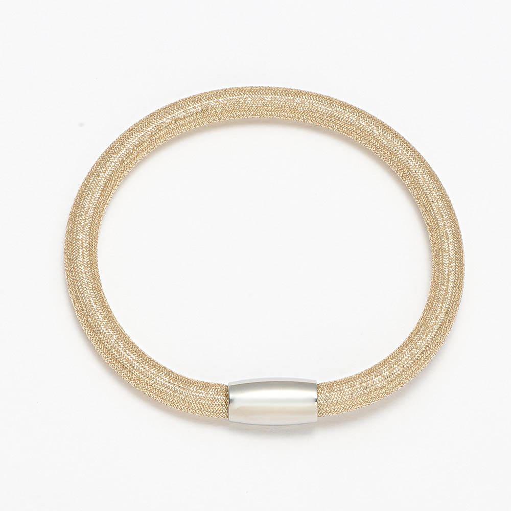 シルキーチョーカー&ブレスレット セット (ア)ゴールド系 ブレスレット