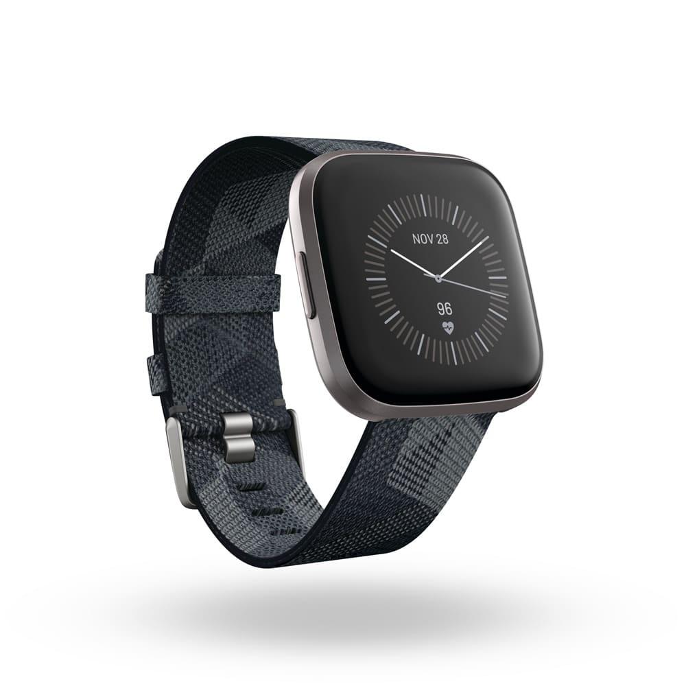 Fitbit/フィットビット Versa 2 替えベルト付き (ア)ブラック系