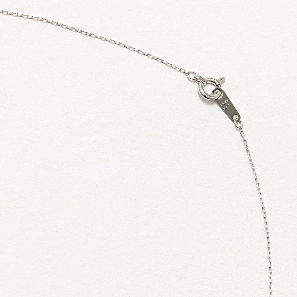 K10 ダイヤバー デザイン ペンダント (イ)WG 引き輪式