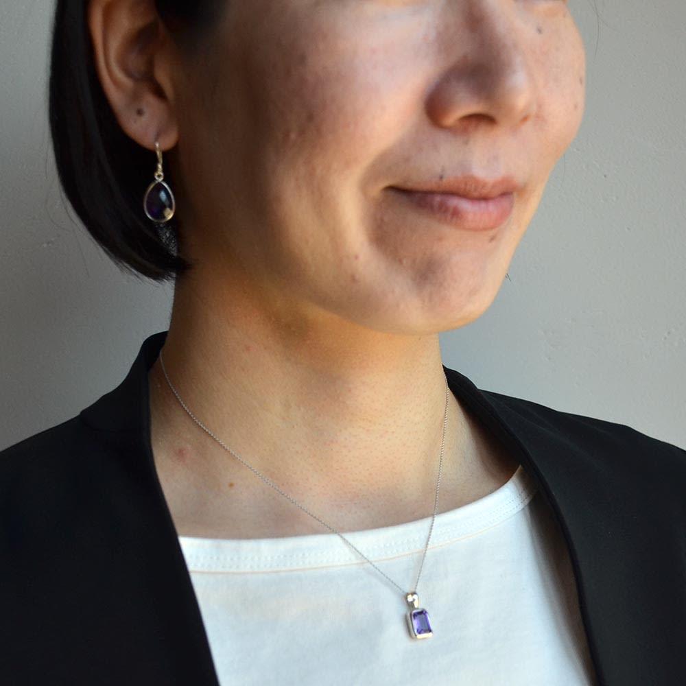 YUKIKO OKURA/ユキコ・オオクラ SV 天然石 ペンダントヘッド(1点もの) (キ)アメシスト コーディネート例