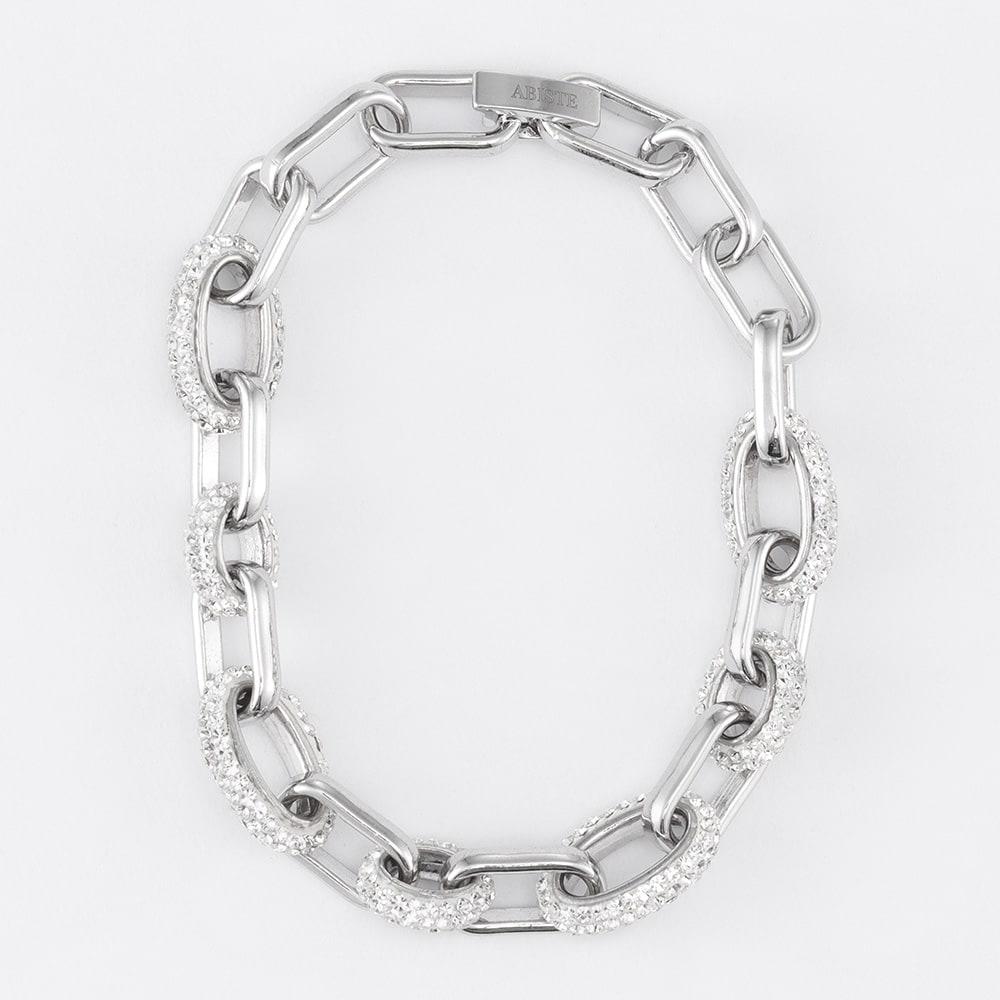 ABISTE/アビステ クリスタルガラス ブレスレット (イ)シルバーカラー