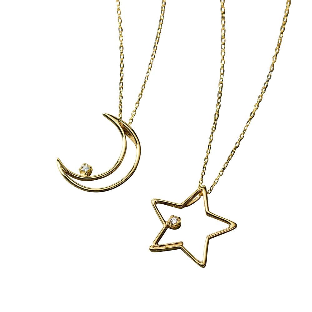 K10 モチーフ ペンダント 左から(イ)月 (ア)星
