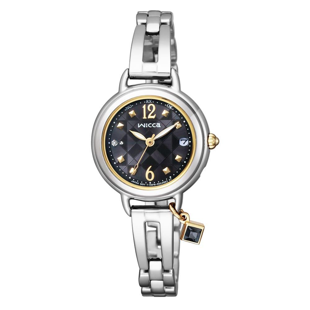 CITIZEN/シチズン WICCA(ウィッカ) ソーラーテック電波時計 KL0-910-51 レディース シルバー レディース腕時計