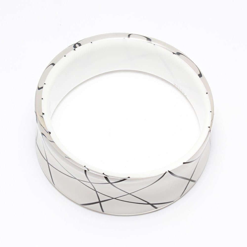 ABISTE/アビステ モノトーンデザイン バングル (イ)ホワイト