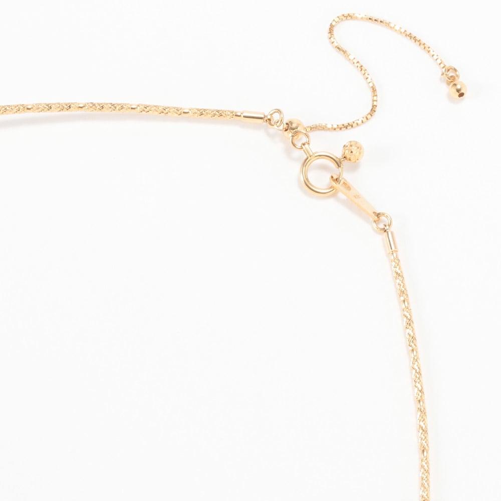 K18 ゴールドパール 2点セット(ネックレス+イヤリング・ピアス) ネックレスはアジャスターチェーン付き