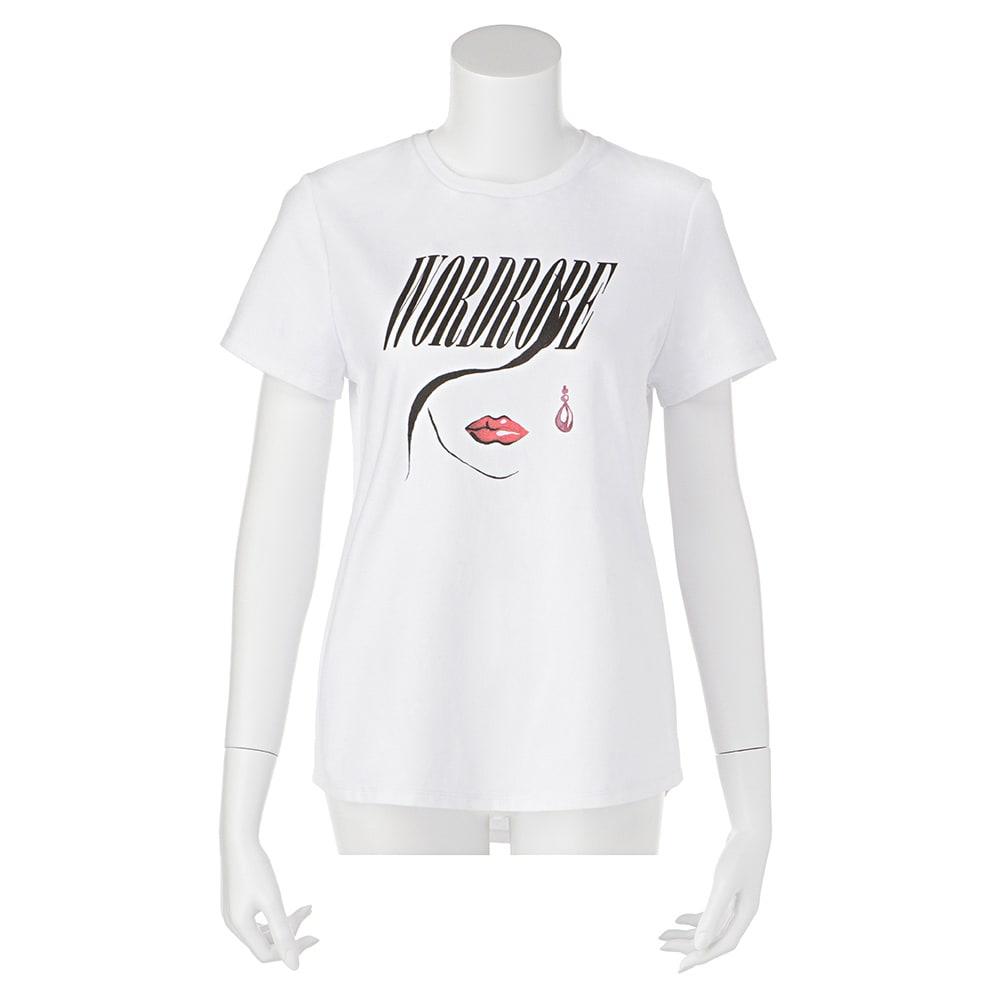 WORDROBE/ワードローブ プリントTシャツ (ア)ホワイト(女性ロゴ)