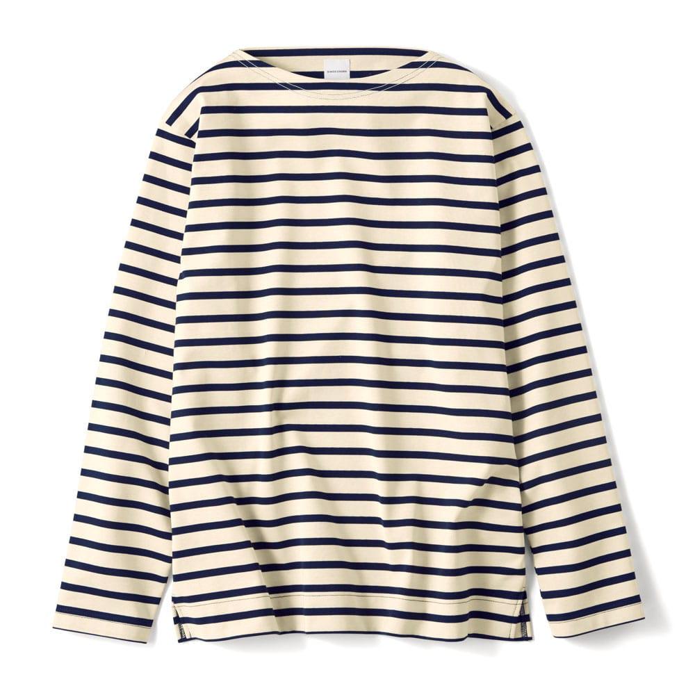 フランス「BUGIS」社 バスクシャツシリーズ ロングスリーブ (ア)ネイビーボーダー