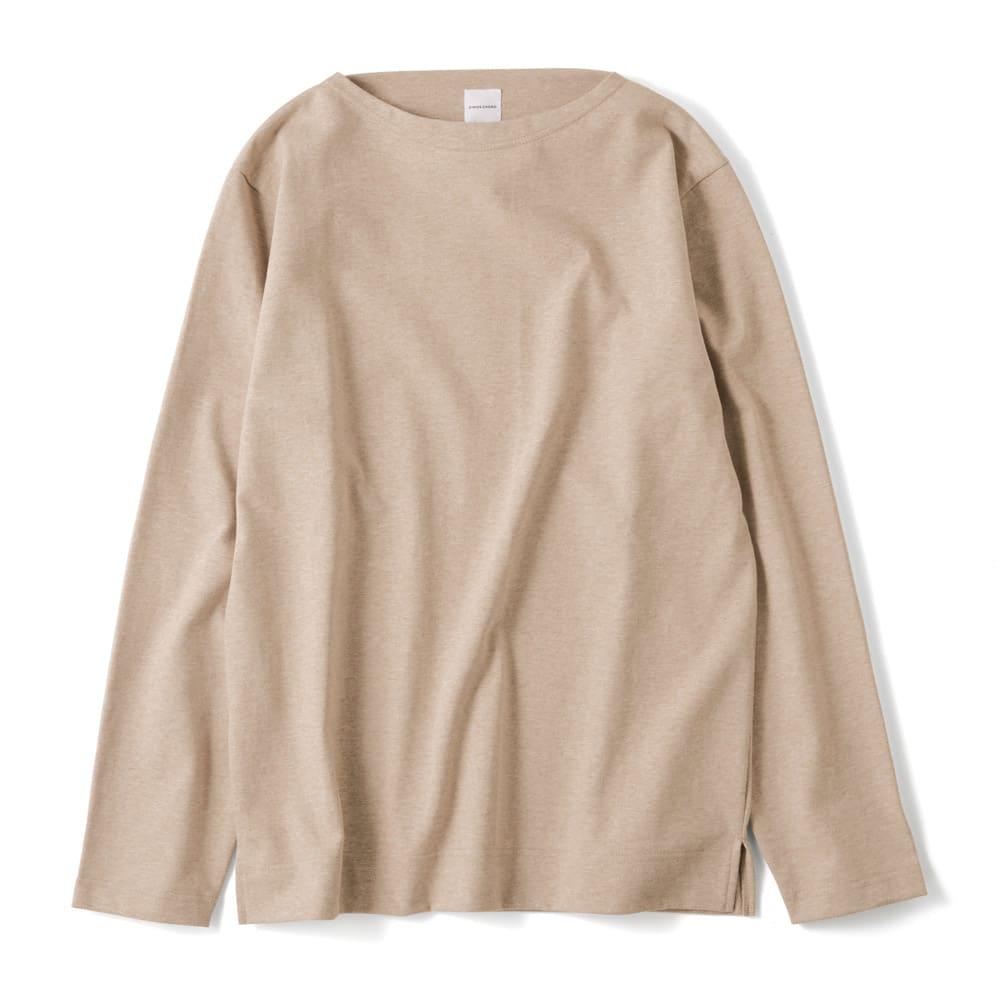 フランス「BUGIS」社 バスクシャツシリーズ ロングスリーブ (イ)ベージュ無地
